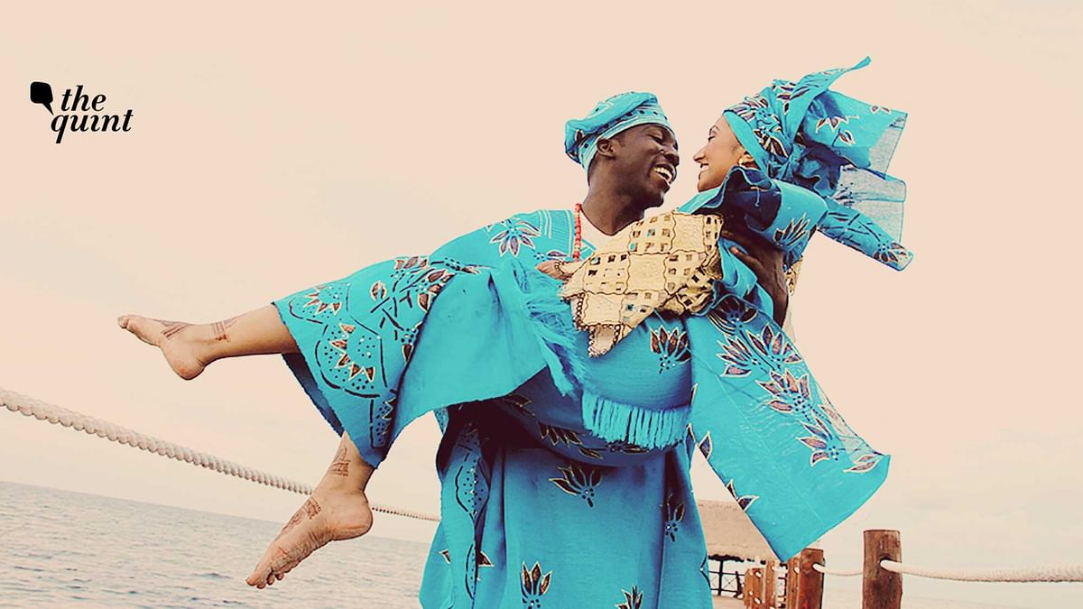 Image of Indian-American Neha Ehindero and her Nigerian partner on their wedding day, used for representational purposes.