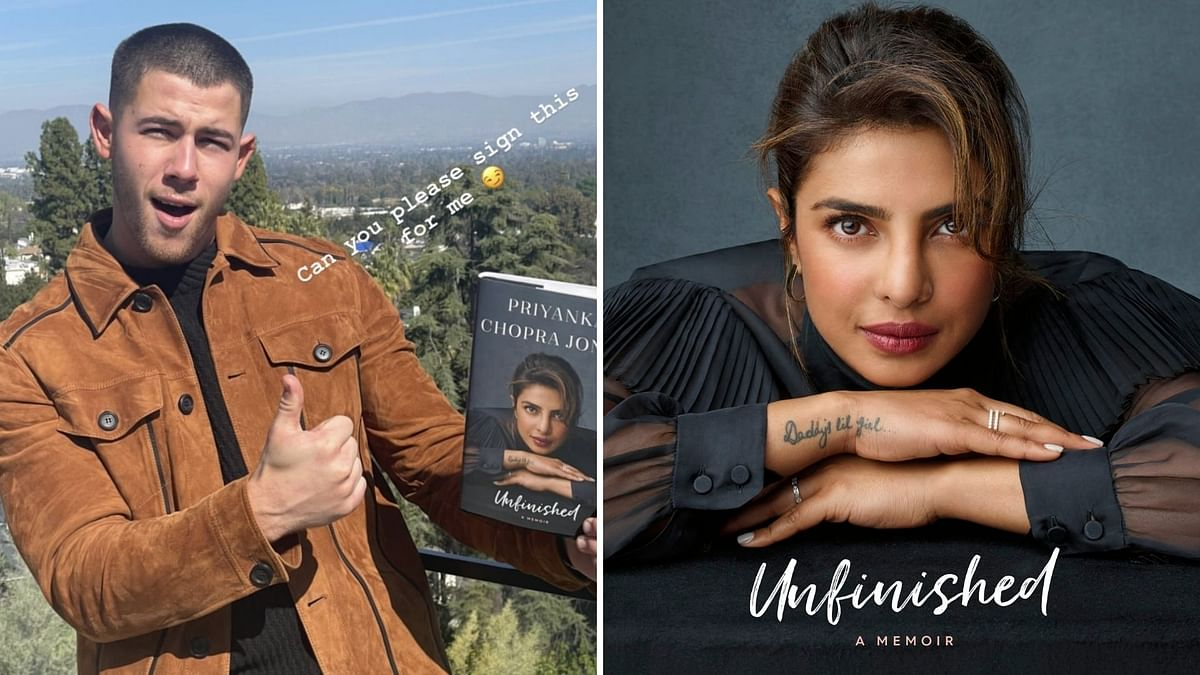 "<p>Nick Jonas takes to Instagram to ask Priyanka Chopra for an autographed copy of her book ""Unfinished"".</p>"
