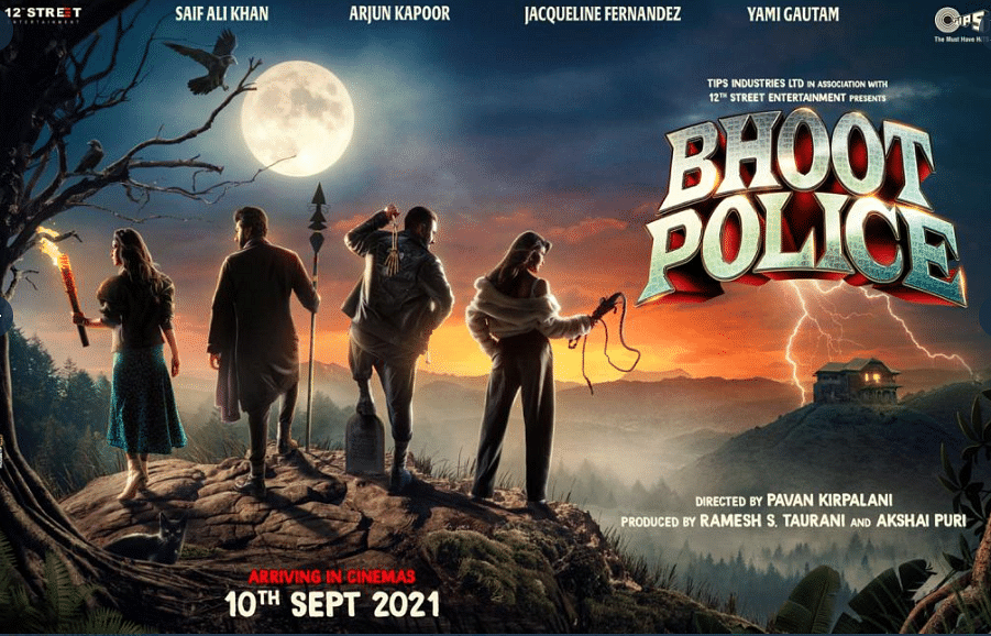 The cast of <i>Bhoot Police </i>in the film's poster&nbsp;