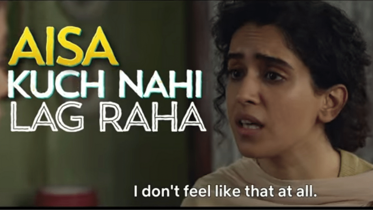 Sanya Malhotra as Sandhya in Umesh Bist's 'Pagglait'