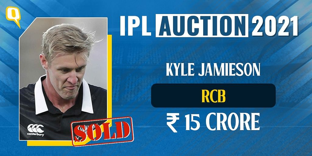 Kyle Jamieson Becomes RCB's 2021 IPL Auction's Biggest Buy