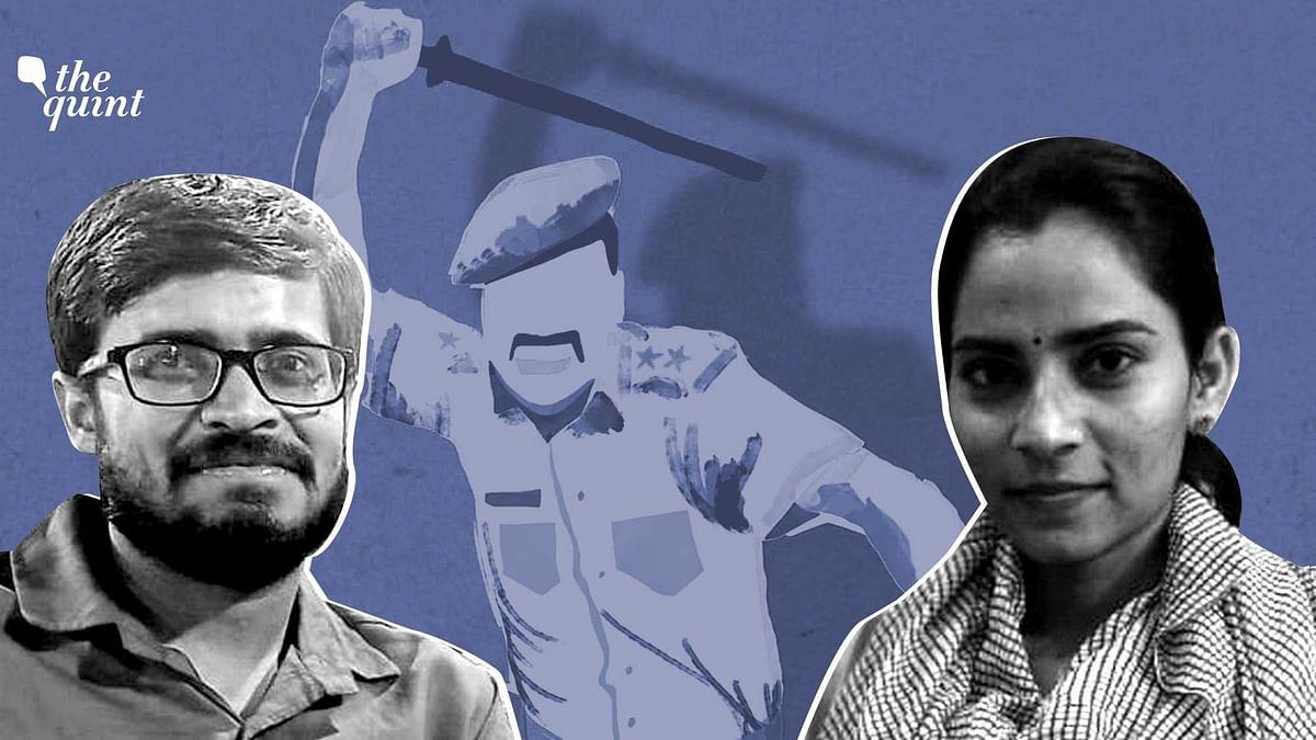Shiv Kumar (L) and Nodeep Kaur (R) have alleged custodial beatings by the Haryana Police.