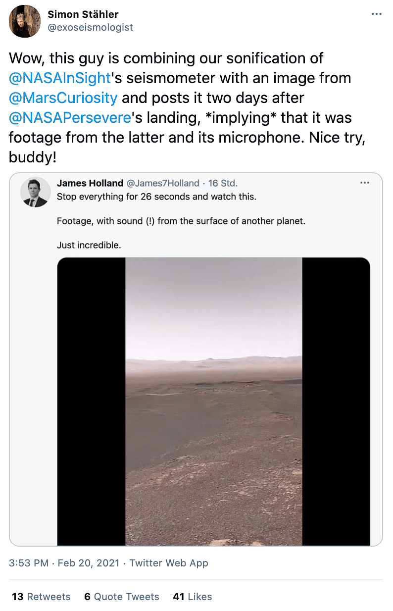 No, That's Not the Footage of NASA's Perseverance Rover!
