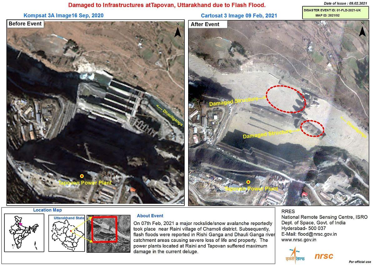 U'Khand Glacier Burst: ISRO Releases Images of the Damage