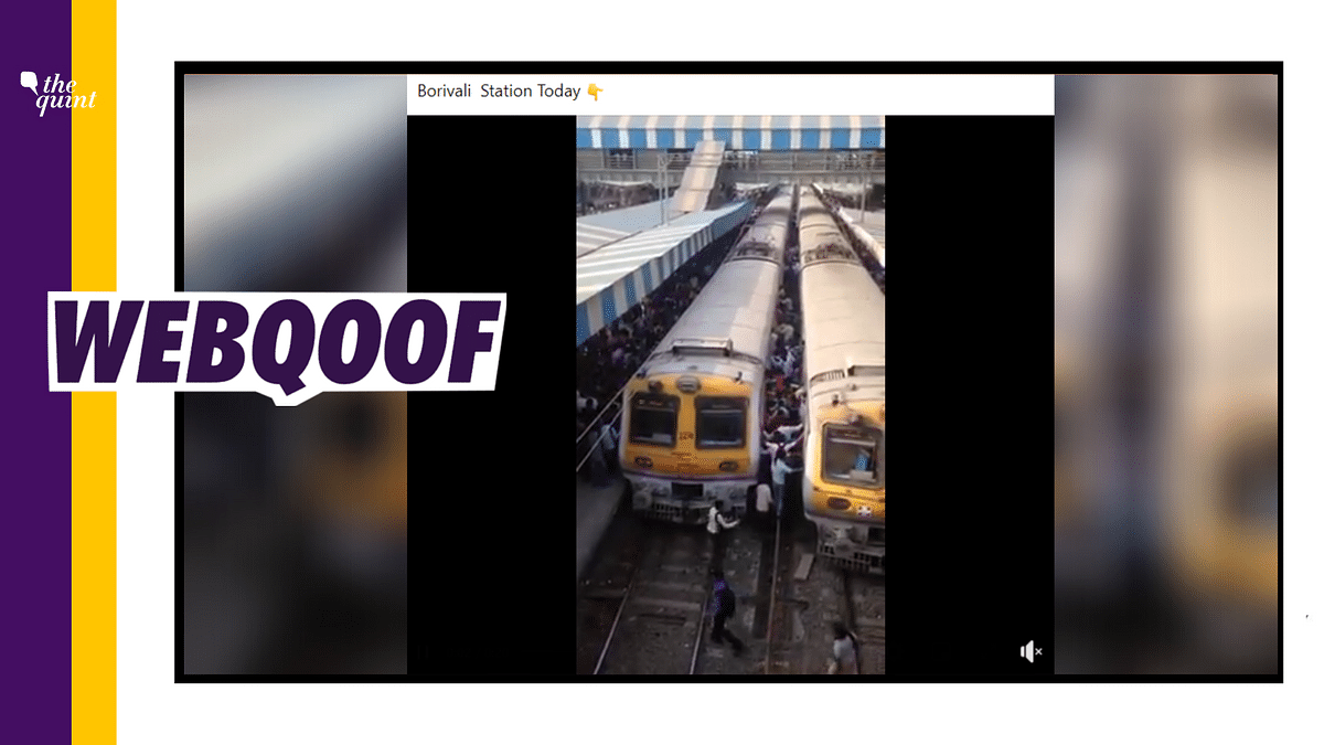 Mumbai Local Overcrowded on Resuming Services? No, Video is Old