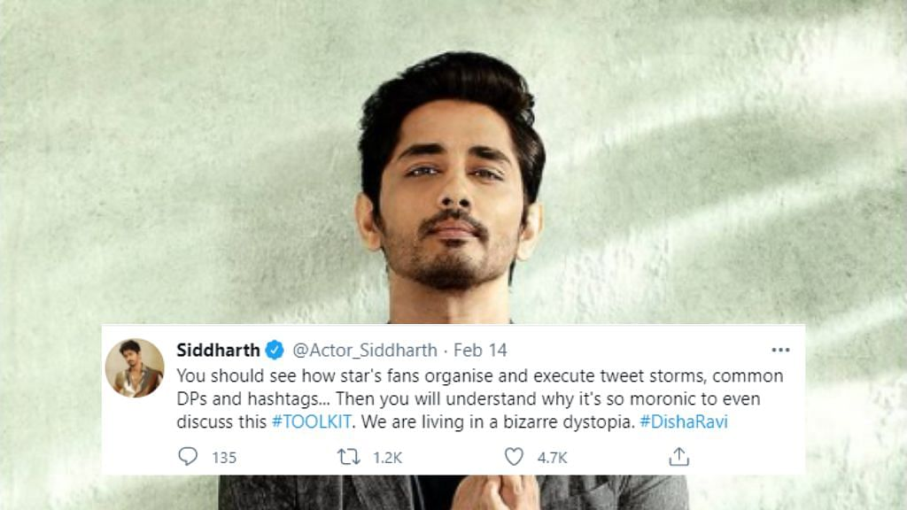 Actor Siddharth says, 'India has changed'.