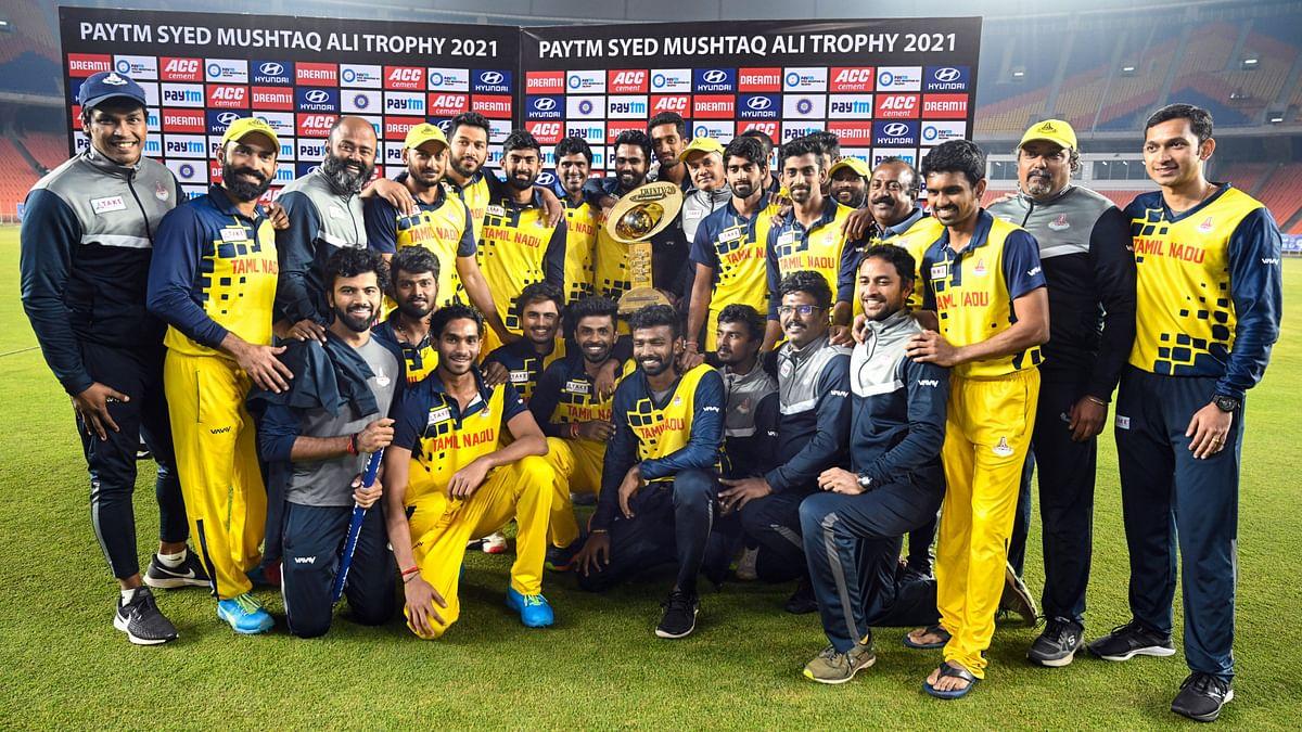 Tamil Nadu beat Baroda by seven wickets to win the Syed Mushtaq Ali T20.
