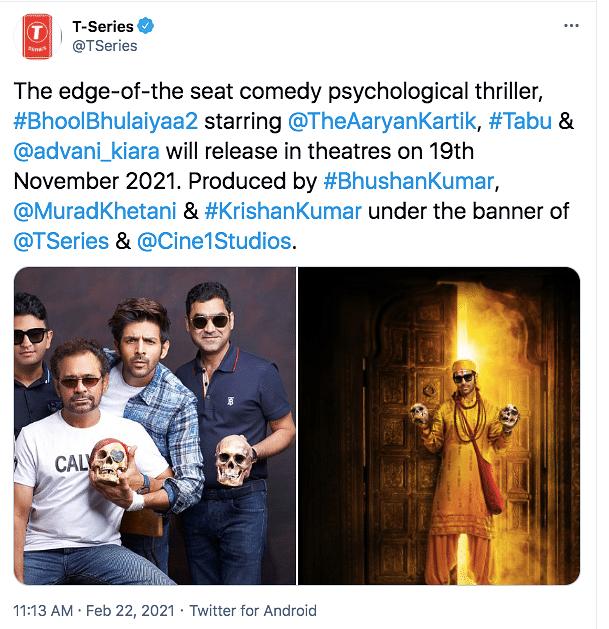 Kartik Aaryan, Kiara's 'Bhool Bhulaiyaa 2' Gets a Release Date