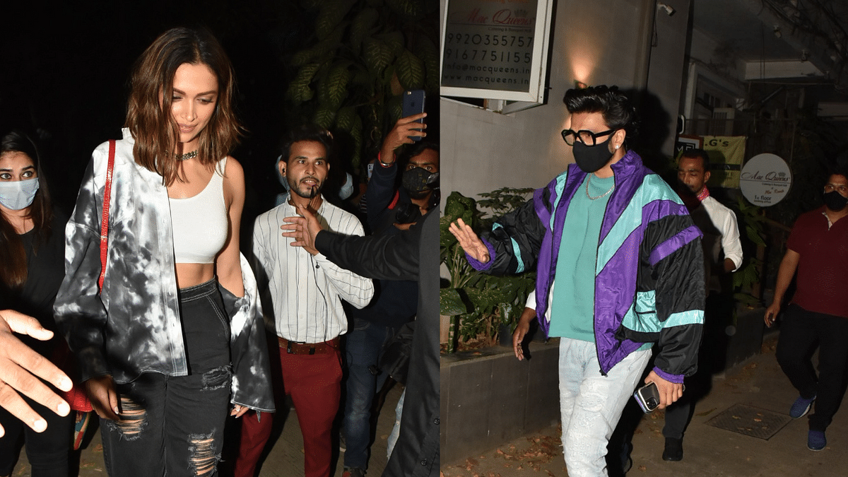 Deepika and Ranveer spotted in Khar and Bandra respectively