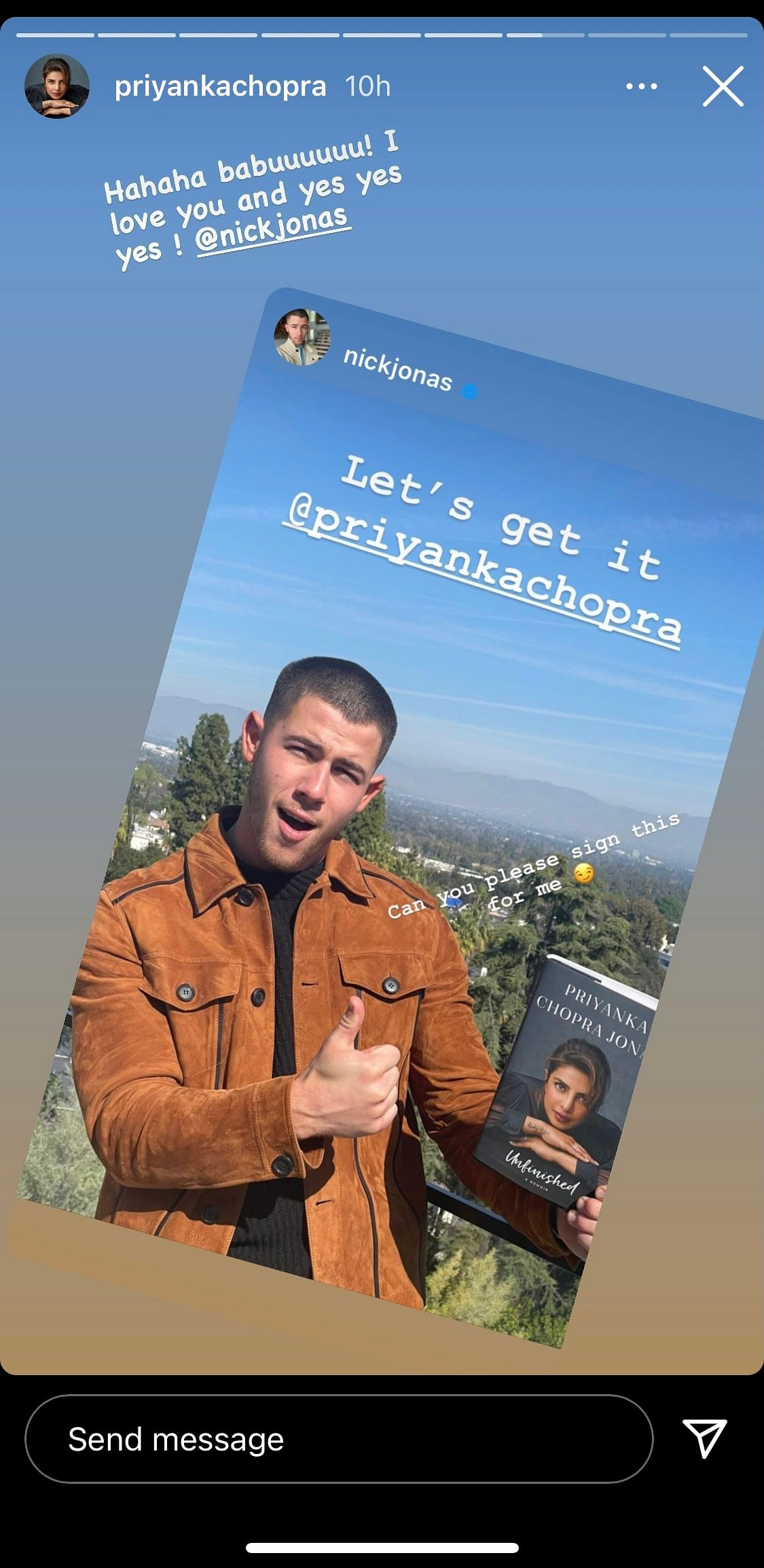 Priyanka Reacts to Nick Fan-Boying Over Her Book 'Unfinished'