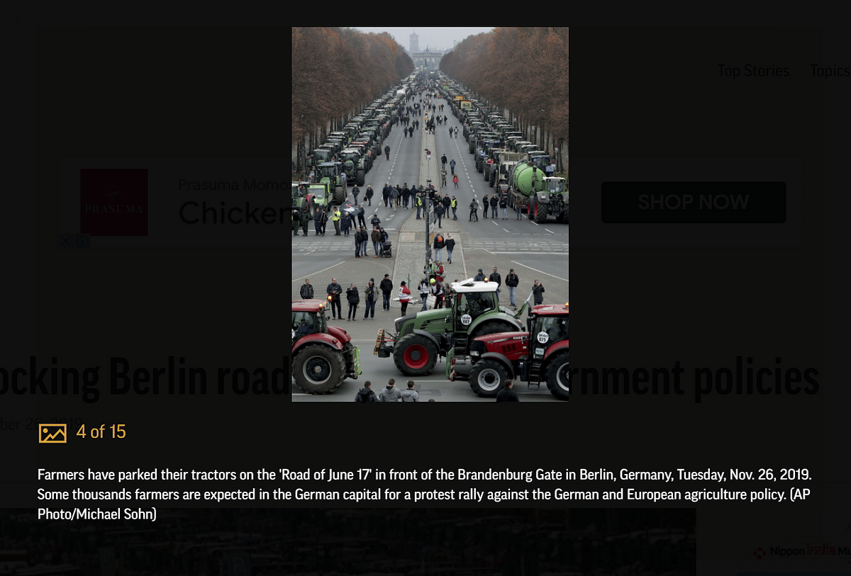 Images of Protesting German Farmers From 2019 Revived as Recent
