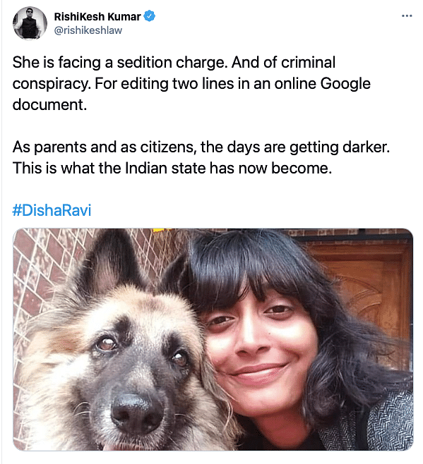 'Attack on Democracy': Support Pours in  for Activist Disha Ravi