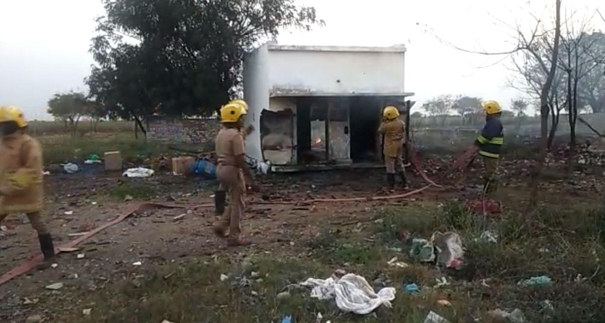 A fire broke out at Thangaraj Pandian fireworks unit at Kalayarkuruchi village in Sivakasi, Tamil Nadu.