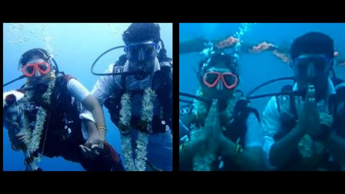 Chennai Couple Took the Plunge and Got Married Underwater