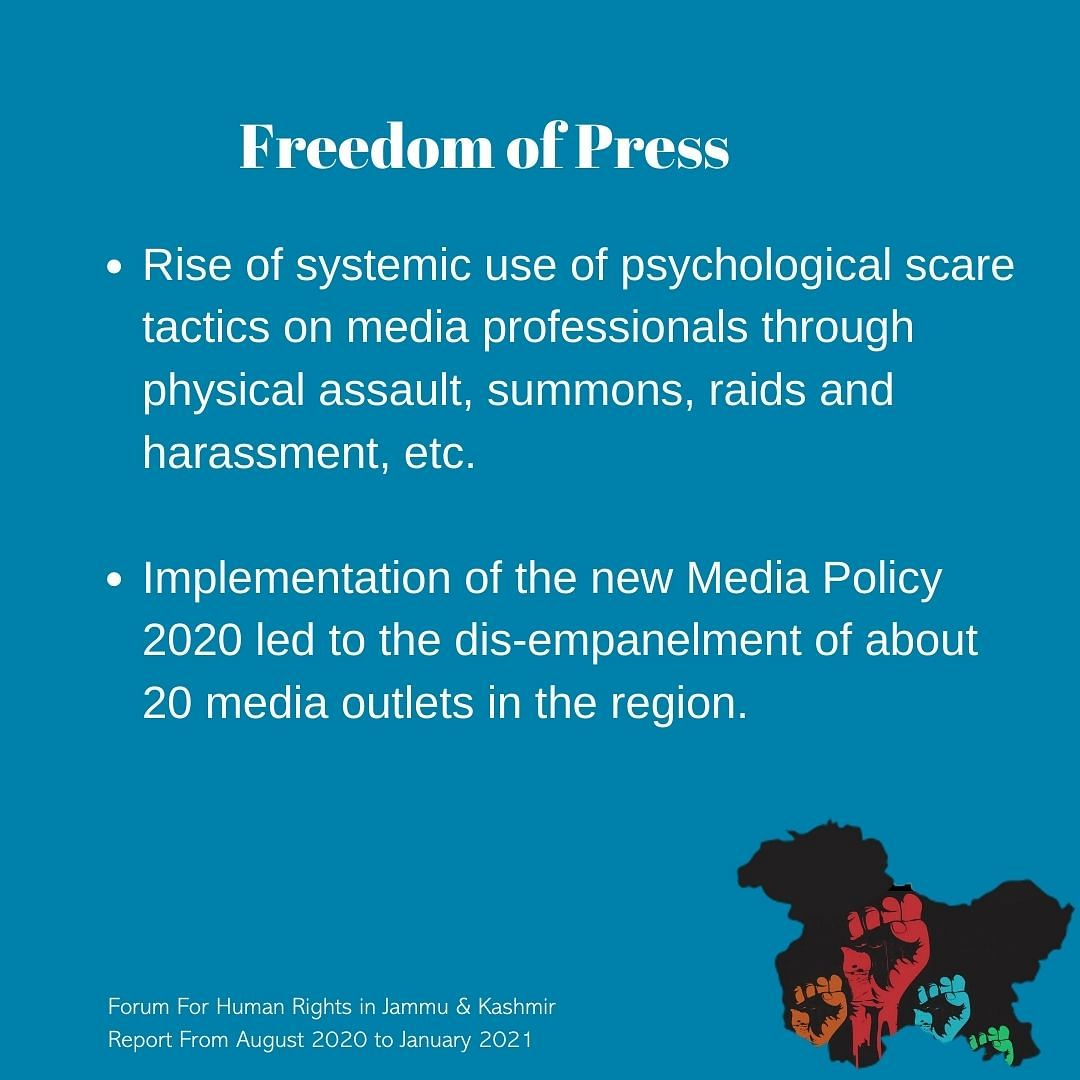 The implementation of the new media policy has led to the dis-empanelment of about 20 media outlets in the region.