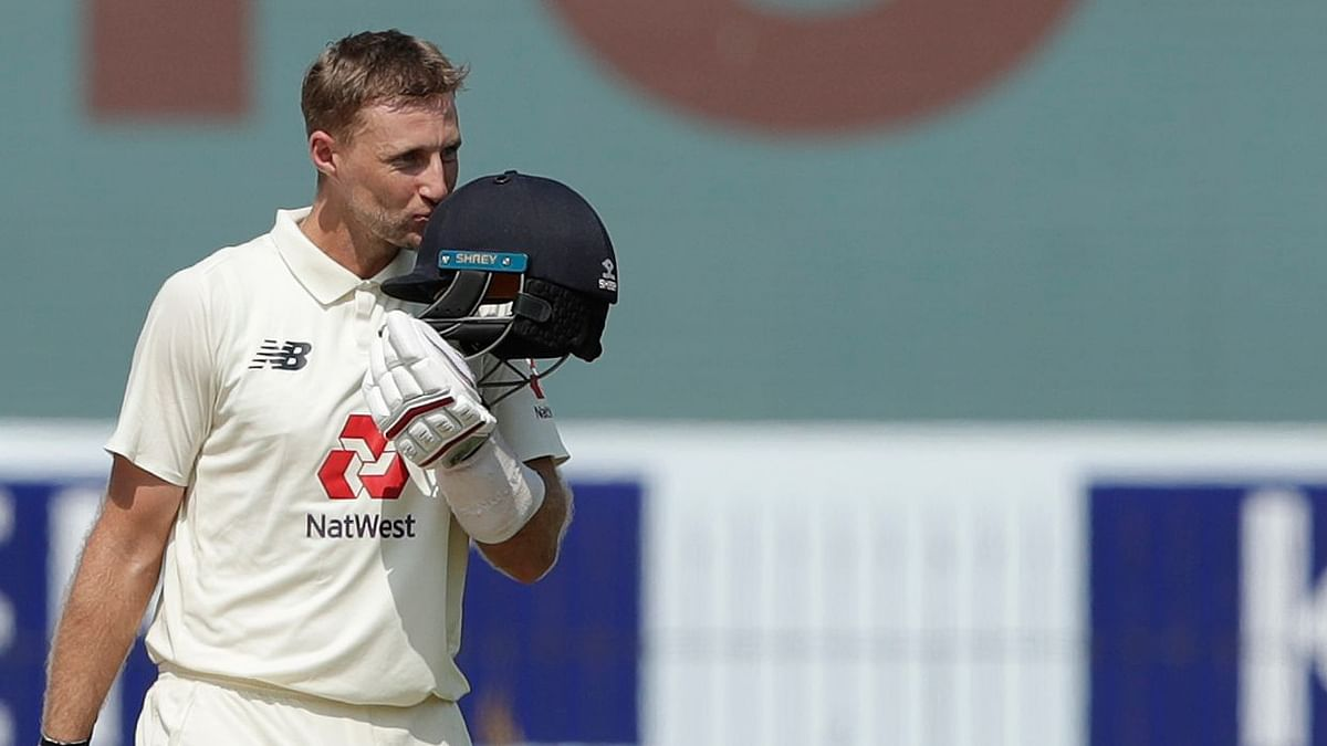 Joe Root after scoring his double hundred in Chennai.