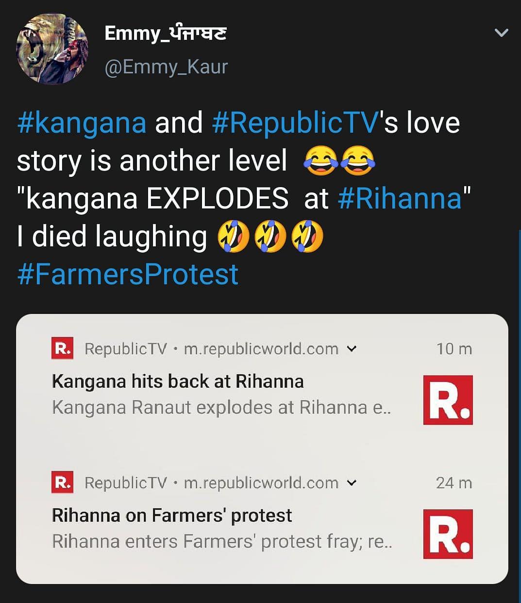 Netizens React to News Channels Reporting on Rihanna's Tweet