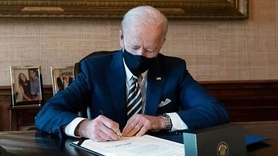 Biden said Trump can't be trusted due to his 'erratic behaviour' from even before the 6 January attack on the Capitol.