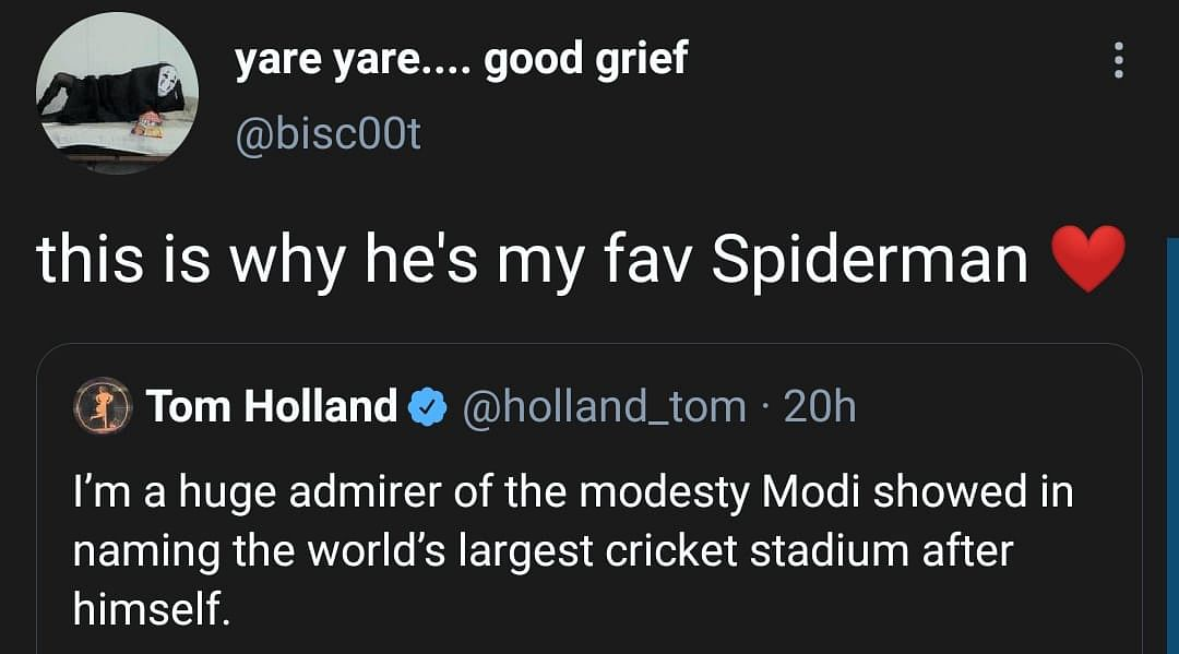 Author Tom Holland Reacts to Modi Stadium, India 'Cancels' Actor