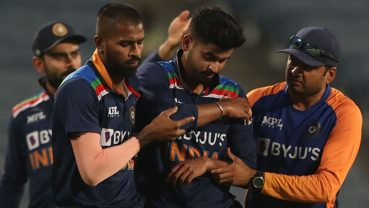 Shreyas Iyer injured his shoulder while fielding during the three-match ODI series against England.