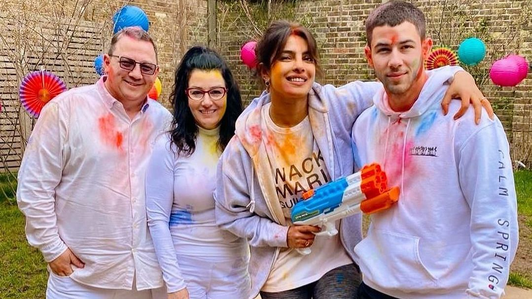 Priyanka Chopra Celebrates Holi With Nick Jonas, In-Laws in London