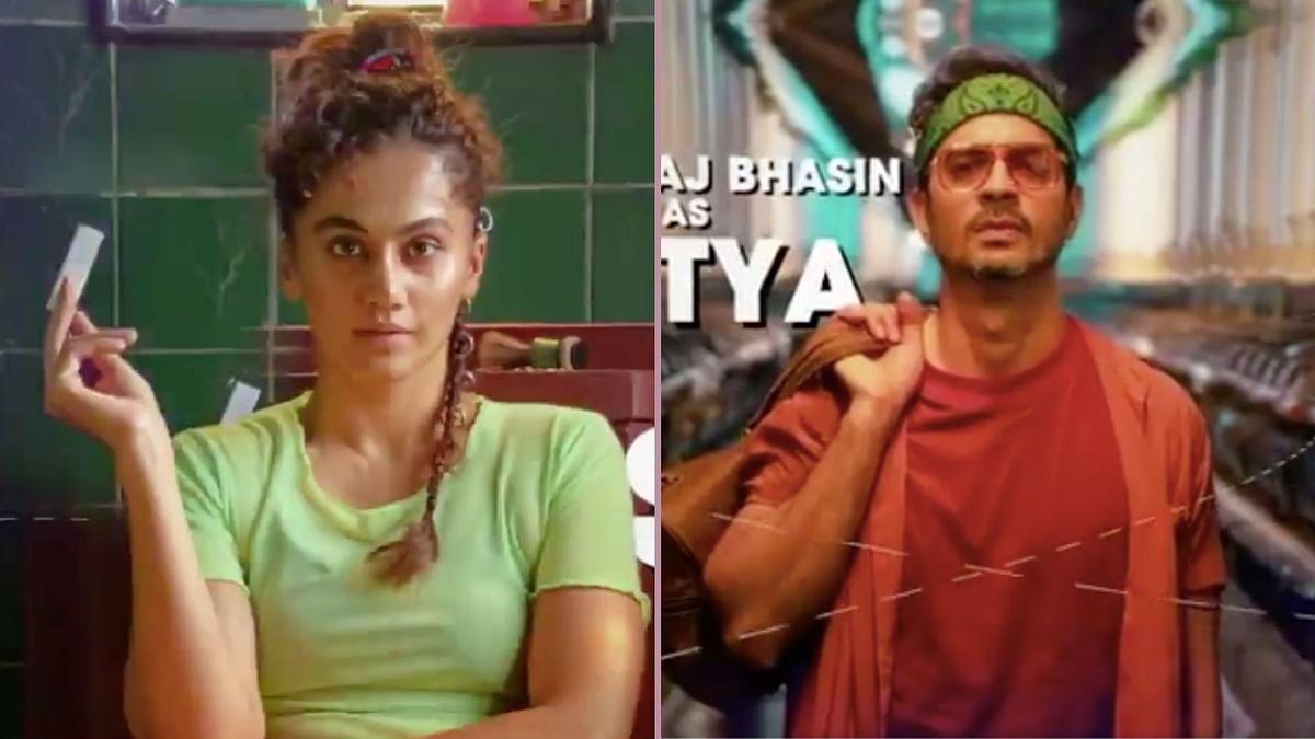 <p>Taapsee Pannu and Tahir Raj Bhasin in Looop Lapeta.</p>