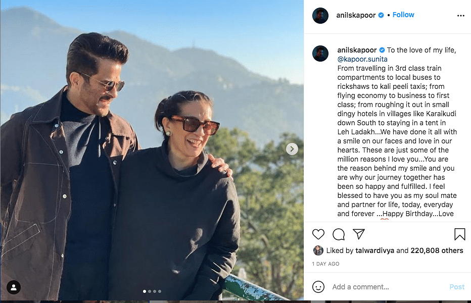 Anil Kapoor Gifts Sunita a Black Mercedes for Her B'day, See Pic