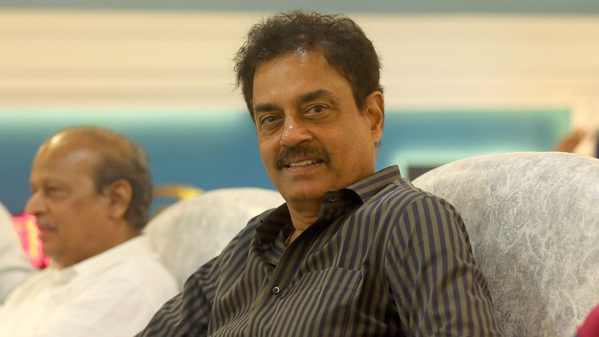 Dilip Balwant Vengsarkar former Indian cricketer during match 15 of the Vivo Indian Premier League Season 12, 2019 between the Mumbai Indians and the Chennai Super Kings held at the Wankhede Stadium in Mumbai on the 3rd April 2019