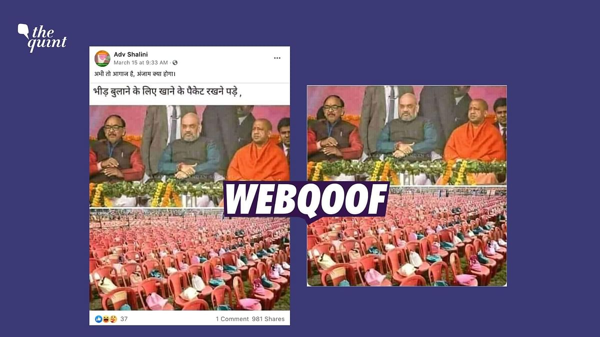 2018 Image of Empty Chairs at Amit Shah's Address in UP Revived