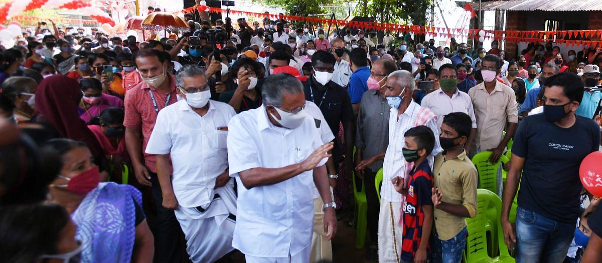 Chief Minister Pinarayi Vijayan campaigns in Dhamadam.