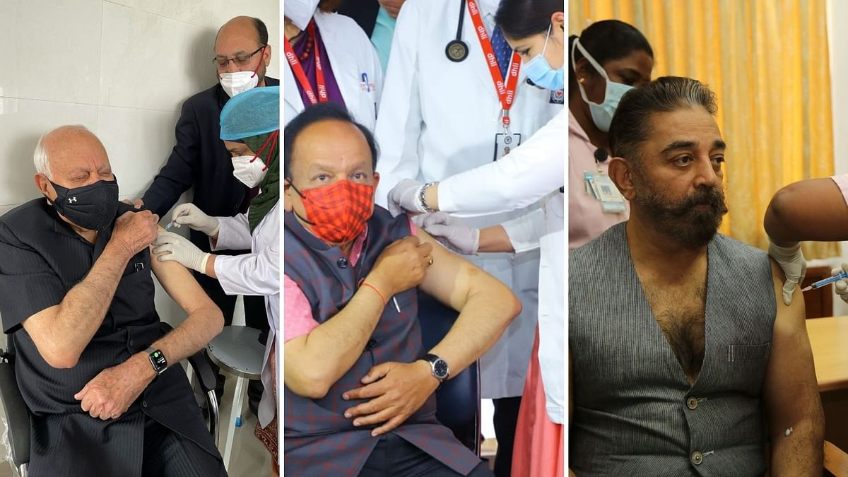Harsh Vardhan, Kamal Haasan Vaccinated on Day 2 of Second Phase