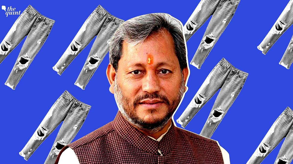Uttarakhand CM Tirath Singh Rawat said women wearing ripped jeans 'cannot raise kids well.'