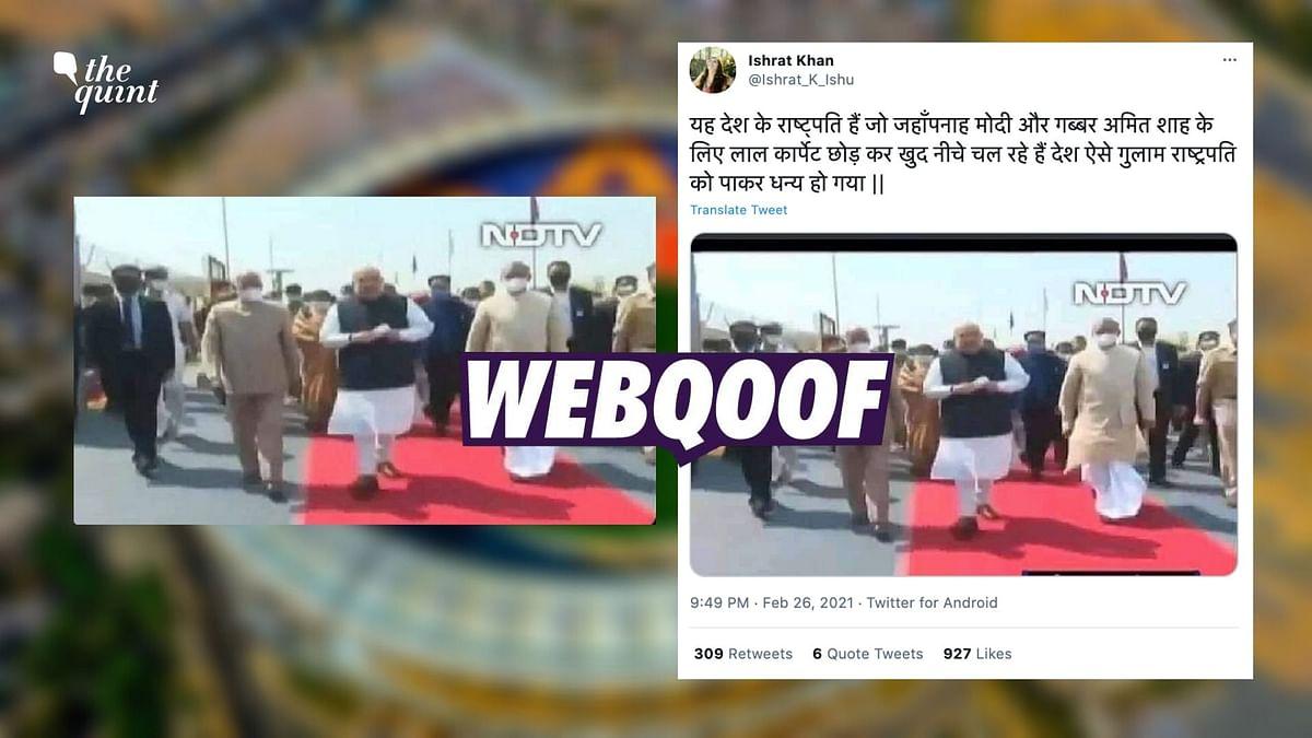 Kovind, Shah's Pic at Motera Stadium Shared With False Claim