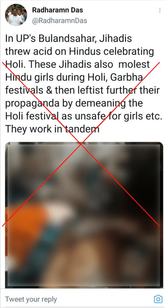 UP Video of Acid Spilt on 2 Men on Holi Given False Communal Spin