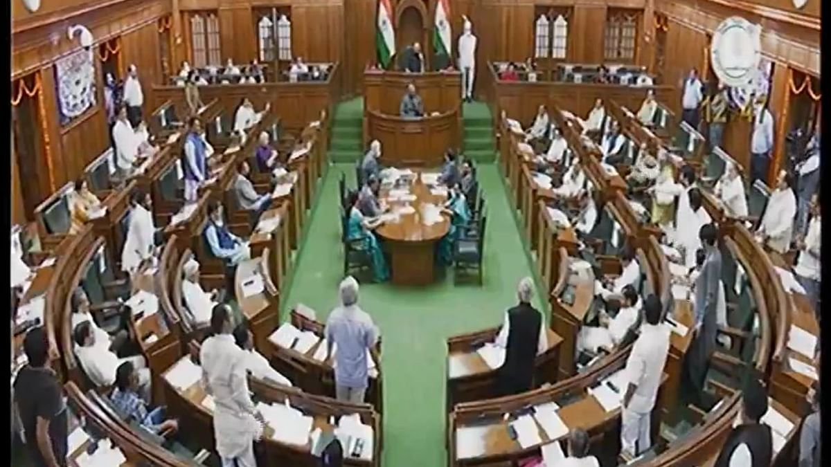 Chaos in Delhi Assembly Over Riots Report: BJP MLA Marshalled Out