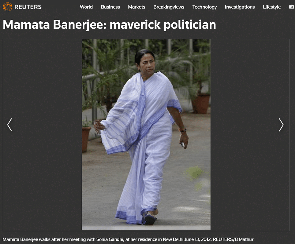 Morphed Image Shared to Claim Mamata Faked Injury Ahead of Polls