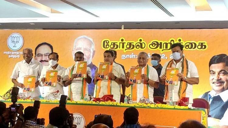 The BJP has promised to create 50 lakh jobs if voted to power in Tamil Nadu in the upcoming Assembly polls.