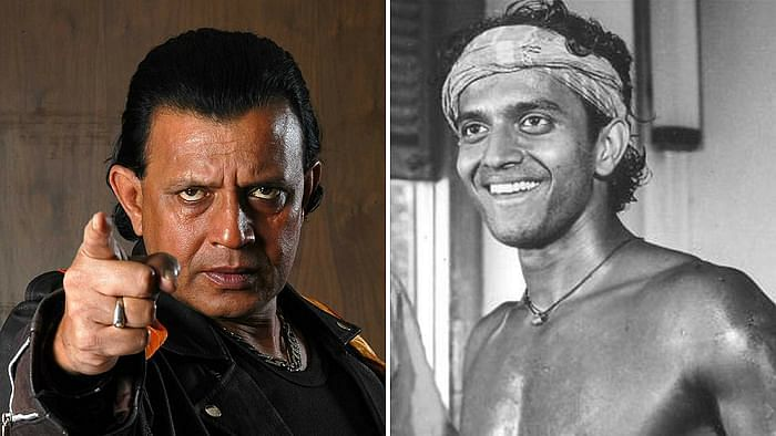 Images of Mithun Chakraborty from his popular films.