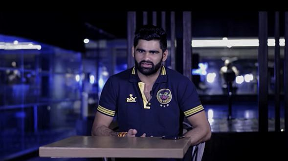 Pardeep Narwal talking about his kabaddi career