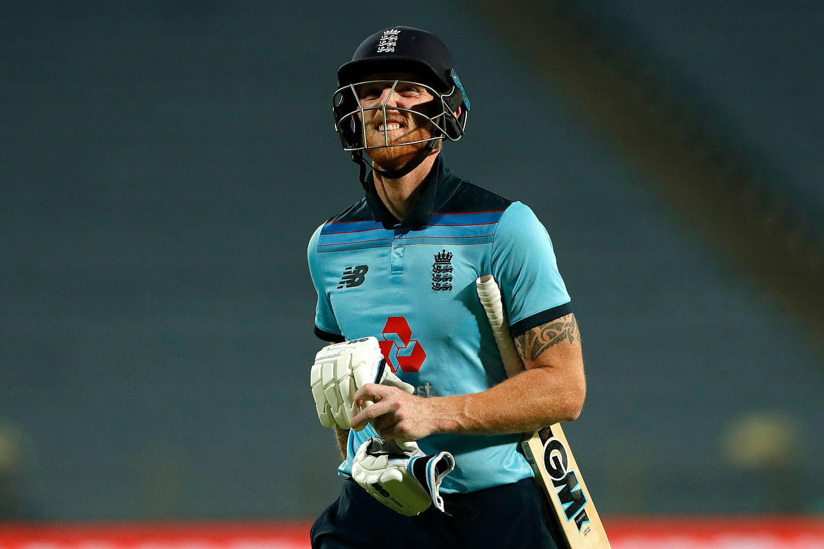 Ben Stokes of England during the 2nd One Day International match between India and England held at the Maharashtra Cricket Association Stadium, Pune, India on the 26th March 2021
