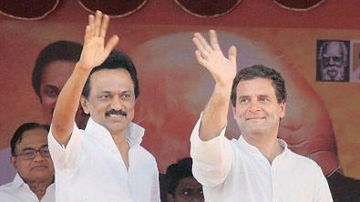 DMK President MK. Stalin and Congress President Rahul Gandhi.