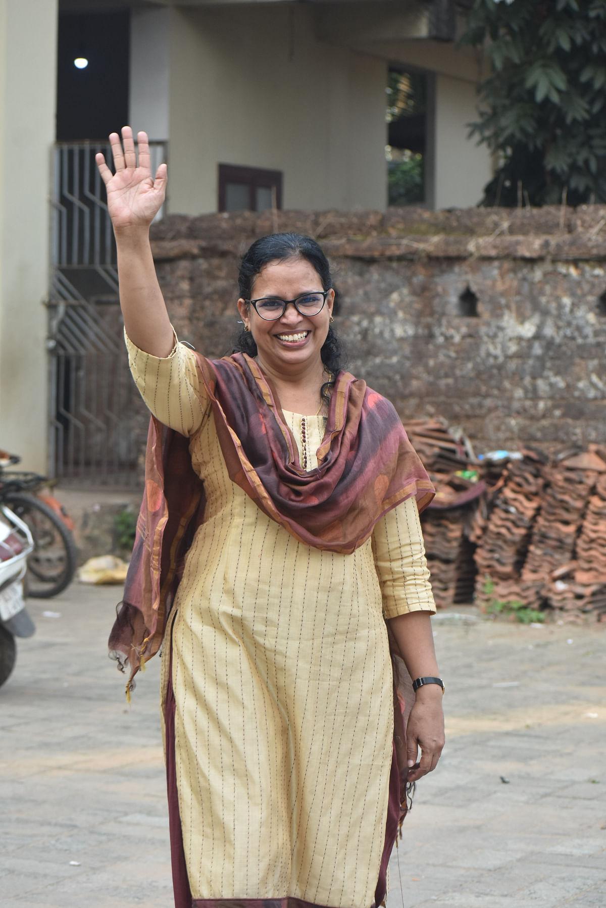 KK Rema campaigning in Vadakara