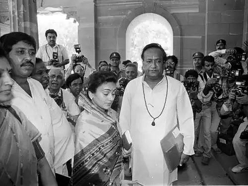Arvind Trivedi with Deepika Chikhlia