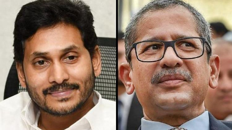 Andhra Pradesh Chief Minister Jagan Mohan Reddy and Justice NV Ramana. Image used for Representation.