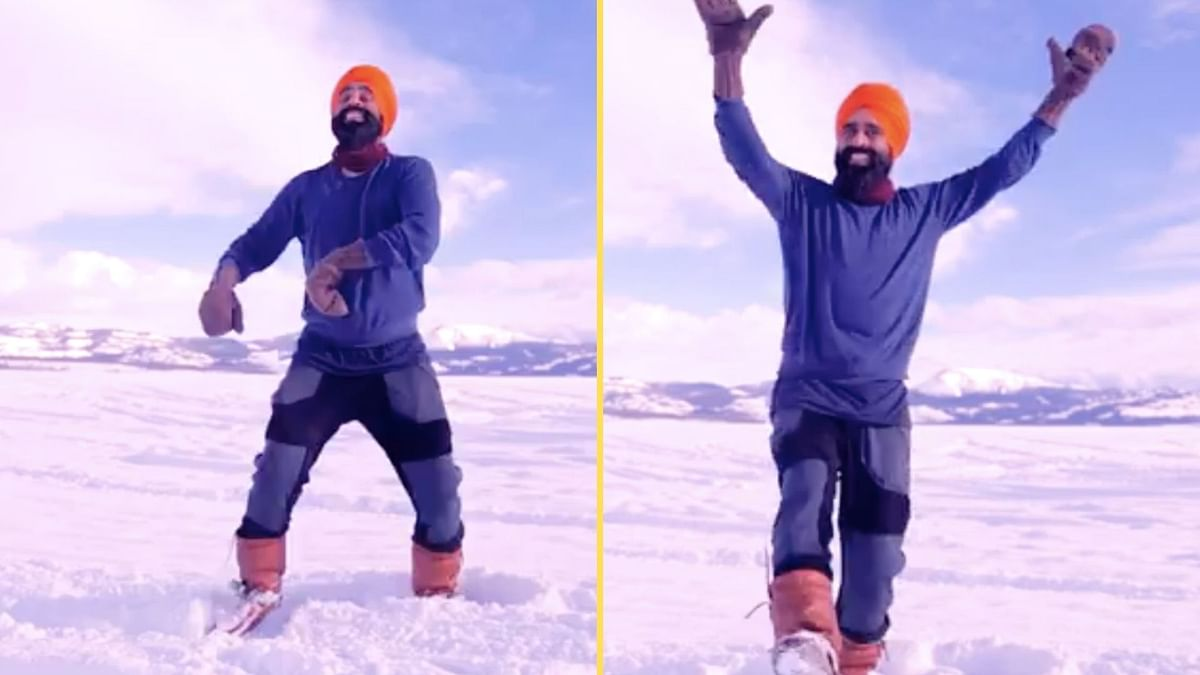 <p>A Canadian dancer performing bhangra after receiving COVID vaccine has gone viral.</p>