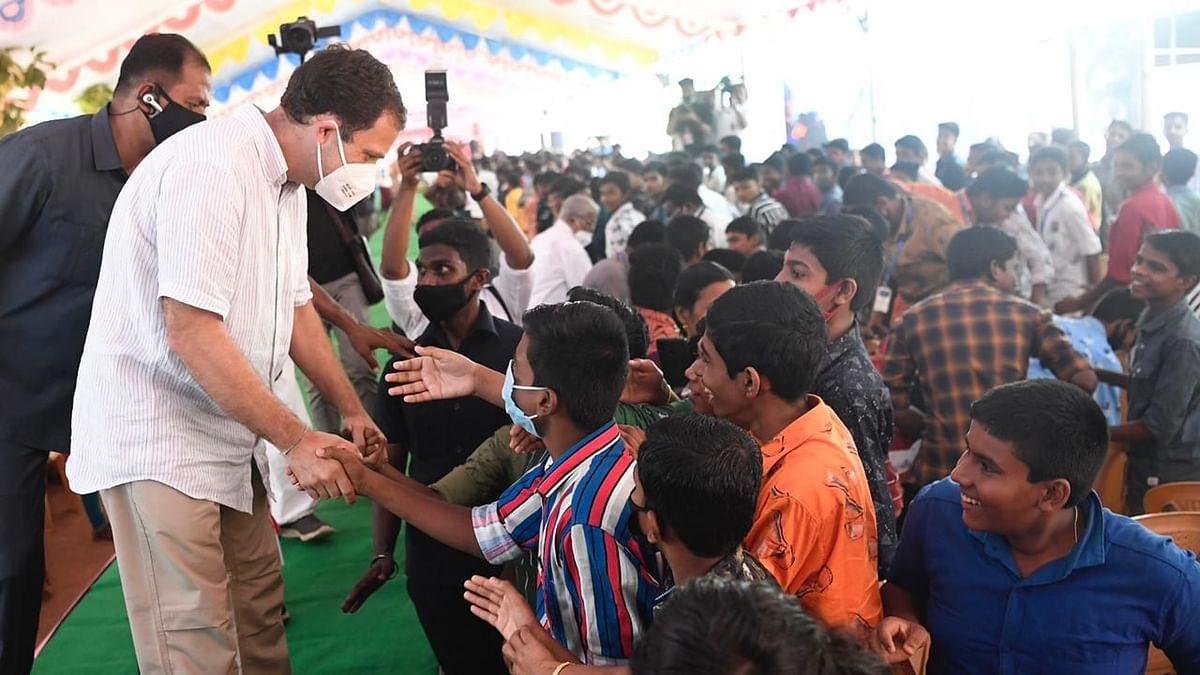 Rahul Gandhi Dances, Does Push-Ups With School Kids in Tamil Nadu