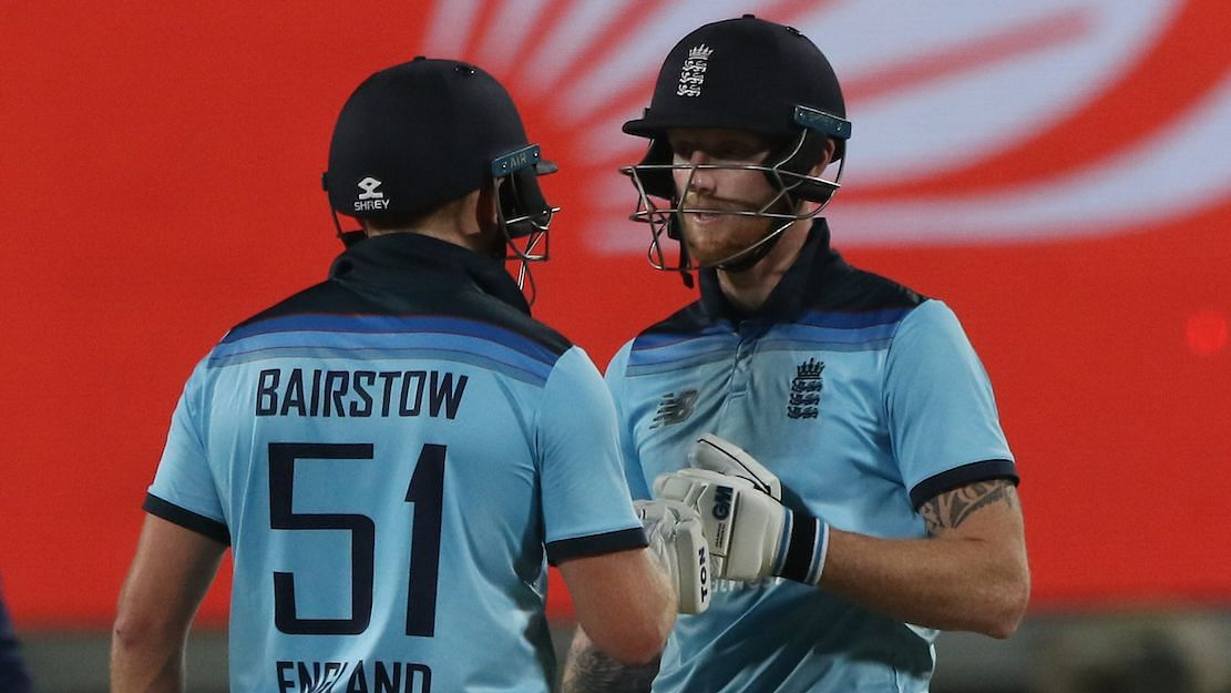 Jonny Bairstow and Ben Stokes during their match-winning partnership against India.