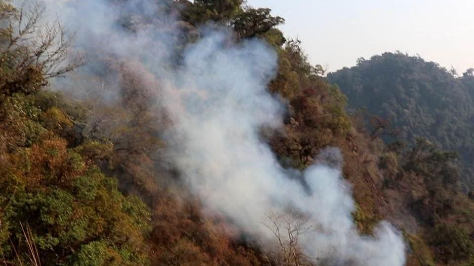 Manipur CM Seeks Help From Centre for Dousing Fire at Shirui Peak