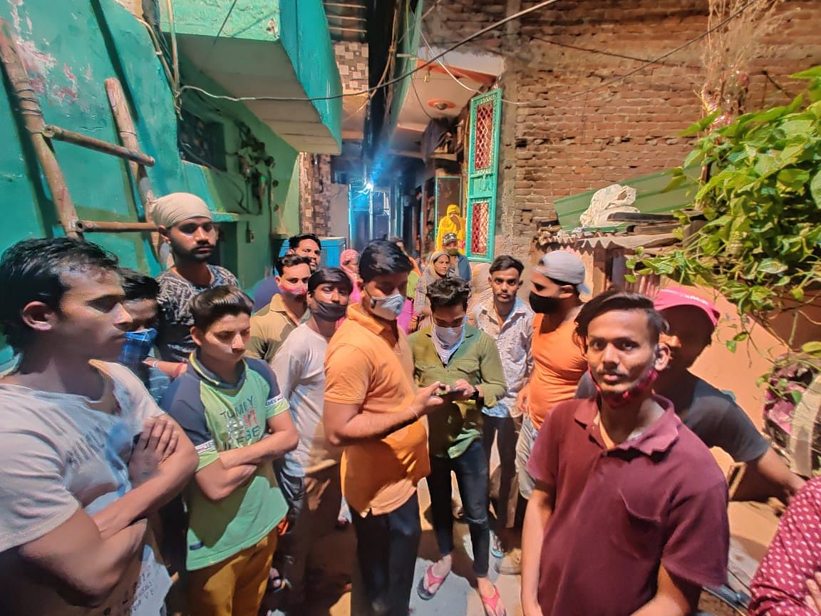 The street where houses of Dalits were attacked, 20-25 bikes damaged, a water cooler broken, pots broken and doors damaged, on the intervening night of 20 and 21 March.