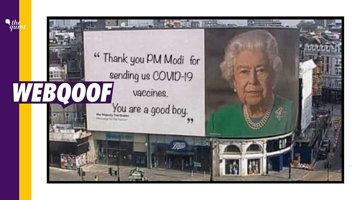 Pic of Queen's Billboard Edited To Thank PM Modi For COVID Vaccine